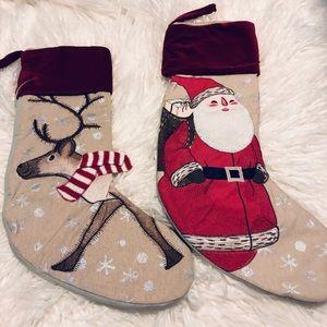COPY - NIP Wondershop Santa & Reindeer Stocking S…